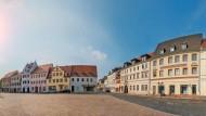 Grimma heute: Der Marktplatz  erstrahlt in neuem Glanz