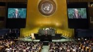 Antonio Guterres, Generalsekretär der Vereinten Nationen, spricht auf der 74. Sitzung der Generalversammlung im Plenum.