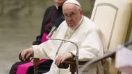 Papst Franziskus bei einer Generalaudienz am 6. Oktober im Vatikan