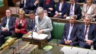 Theresa May am Montag im Unterhaus