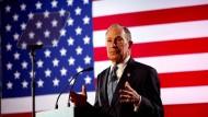 Bloomberg bei einer Wahlkampfveranstaltung in Chattanooga, Tennessee.