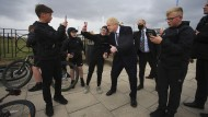 Boris Johnson am 3. Mai in Hartlepool