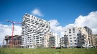Neubauten im Frankfurter Europaviertel