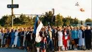 Millionen Hand in Hand: Demonstranten am 23. August 1989 in Tallinn