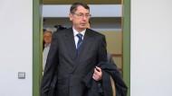 Georg Funke, von 2003 bis 2008 Vorstandschef der Hypo Real Estate, bei einem Gerichtstermin im März 2017