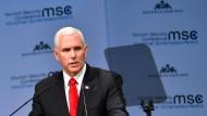 Der amerikanische Vizepräsident Mike Pence kritisiert Deutschland auf der 55. Münchner Sicherheitskonferenz scharf.