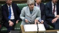 Die britische Premierministerin Theresa May am Montag im Unterhaus in London