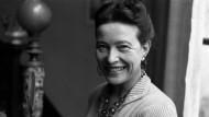 """""""Jeder lebendige Schritt ist eine philosophische Entscheidung"""": Simone de Beauvoir im Jahr 1954"""