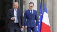 Außenminister: Jean-Yves Le Drian (links) und Heiko Maas (rechts)