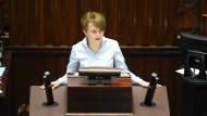 Sie leitete bis Oktober ein erweitertes Wirtschaftsministerium, jetzt ist sie wieder Abgeordnete: Jadwiga Emilewicz