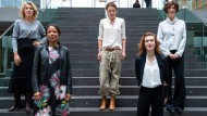 Prominente Aktivistinnen (v.l.n.r.) Maria Furtwängler, Janina Kugel, Katja Kraus, Nora Bossong und Jutta Allmendinger
