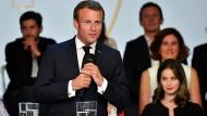 Emmanuel Macron am Dienstag bei einer Veranstaltung im Elysée-Palast