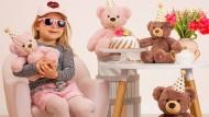 So stellt man sich bei Teddy Hermann glückliche Kinder vor.