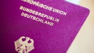 Wertvolles Dokument: ein deutscher Pass
