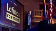 Wahlkampf: Trump bemühte sich um die Stimmen der hispanoamerikanischen Bevölkerung.