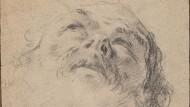 """Bart wie Stirn überblendet vom göttlichen Licht geht der Blick tief in die Nasenlöcher: Giambattista Piazettas """"Apostel der Frankfurter Marienentschlafung, gen Himmel blickend""""."""
