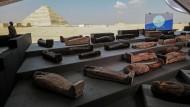 Ägyptische Totenstadt Sakkara: Archäologen entdecken hundert Sarkophage