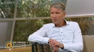 Allgemeinplätze: Björn Höcke beim Interview im MDR.