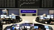 Blick auf die Dax-Tafel an er Frankfurter Wertpapierbörse.