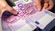 Die letzten 500-Euro-Scheine werden am Freitag durch die Bundesbank ausgegeben.