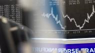 Unruhige Börsen: Dax-Kurstafel