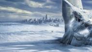 """New York zittert unterm Eispanzer: So malte sich Roland Emmerichs """"The Day after Tomorrow"""" eine mögliche Klimakatastrophe aus."""