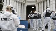Sicherheitskräfte am Donnerstag vor der Kirche Notre Dame in Nizza