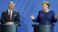 Bundeskanzlerin Merkel und der jordanische König Abdullah II. in Berlin