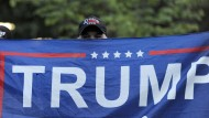 Ein Trump-Anhänger am Dienstag in Philadelphia