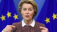 """""""Wir haben anfangs in den Abgrund geschaut"""", sagt Ursula von der Leyen, Präsidentin der Europäischen Kommission."""