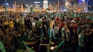 Aufruhr: Der Taksim-Platz in Istanbul am 08. Juni 2013.