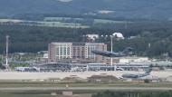 Der Flughafen Ramstein im Juni
