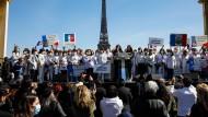 Proteste gegen die Entscheidung des französischen Kassationsgerichts im Fall Sarah Halimi am Sonntag in Paris