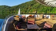 Ein ganzes Flusskreuzfahrt-Schiff fast für sich allein: Die A-Rosa Alva fuhr mit nur  33 Passagieren auf dem Douro. Platz hat das Schiff für 126.
