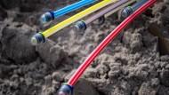 Einer der Gründe für den Frankfurter Absturz im Ranking: Der Glasfaserausbau kommt nicht voran.