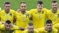 Die Ukrainer trugen ihr neues Trikot erstmals im Test gegen Zypern am Montag.