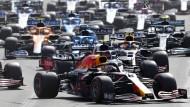 Die Formel 1 in Baku: Noch führt Verstappen, am Ende gewinnt sein Teamkollege Perez.