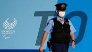 Mit großer Präsenz bei den Olympischen Spielen: Sicherheitskräfte in Japan