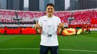 Einsatz in der WM-Qualifikation: Aaron Krüger im Stadion von Guangzhou