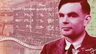 """Alan Turing hatte dem britischem Geheimdienst geholfen, den """"Enigma""""-Code der Wehrmacht zu knacken."""