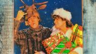 """Andrew Ridgeley (links) und George Michael auf dem Plattencover der """"Last Christmas""""-Single von 1984"""