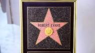 """Der Stern des Produzenten Robert Evans auf dem berühmten """"Walk of Fame"""" in Hollywood"""
