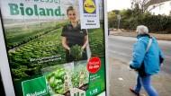 Lidl-Werbung für die Kooperation mit Bioland