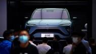 Konkurrenz aus dem Osten: Auto des chinesischen Herstellers Nio in Peking