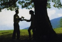 A characteristic image, from The Oak: guns and romance under the national tree