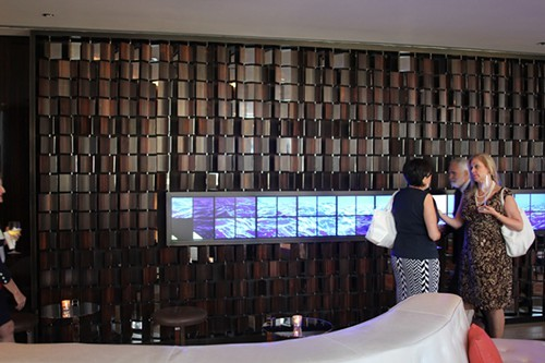 A video artwork in the bar.