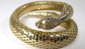 A vintage Whiting and Davis bracelet from vintage boutique Kokorokoko, which is taking part in Eskells vintage party this weekend
