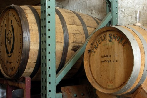 Barrels from Corsair (I think) and High West Distillery