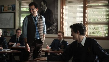 Clive Owen as a high school English teacher in Words and Pictures