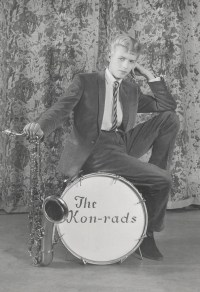 Davie Jones at 16 in 1963, two years before he became Bowie. He had the ability to look through the lens at the audience, says Marsh, even if it was still an imaginary audience.